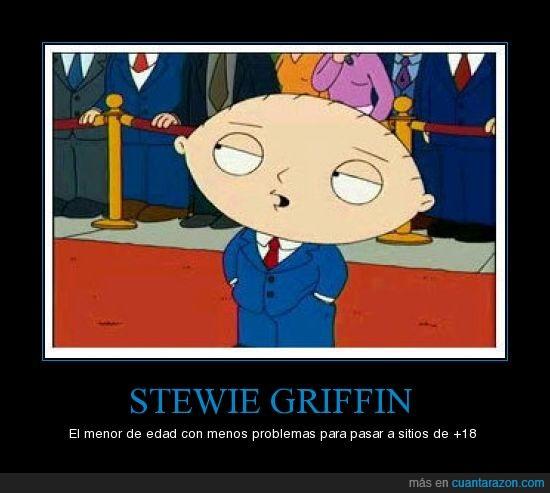18 años,griffin,padre de familia,stewie