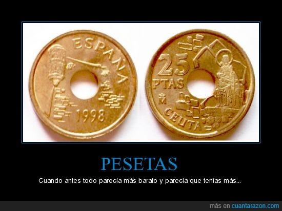 Dinero,Pesetas