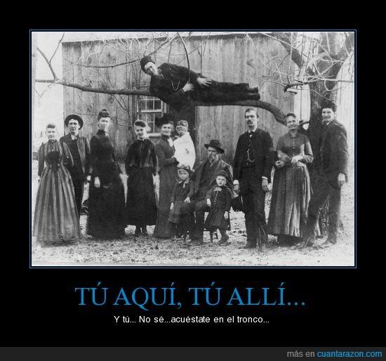 antigua,familia,foto,tronco