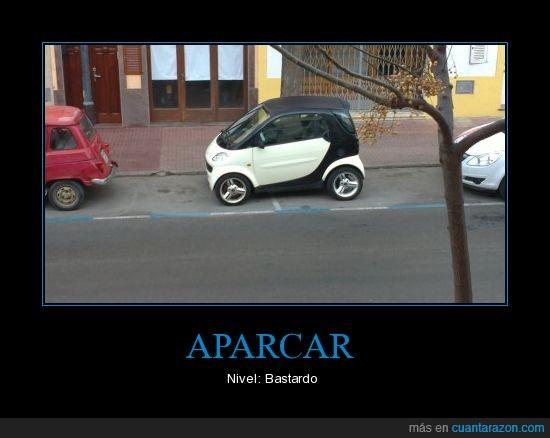 coches,mal aparcar,Smart