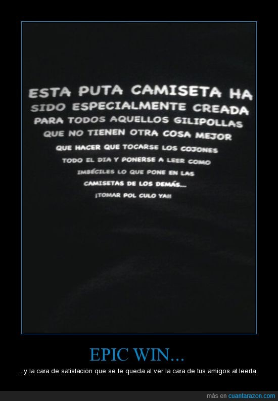 camiseta,epic win,texto