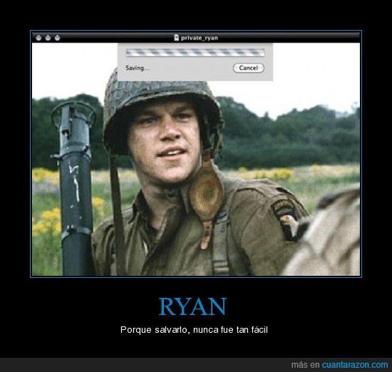 ryan,salvar,Soldado ryan