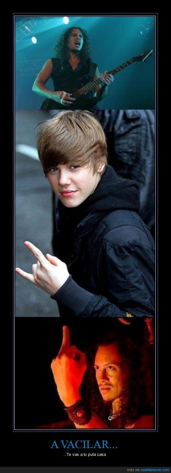 Justin Bieber,Kirk Hammet,Metallica