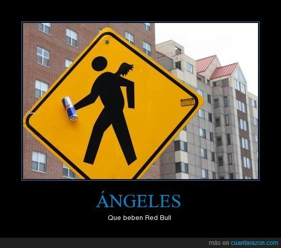 ángeles,publicidad,red bull te da alas,señal