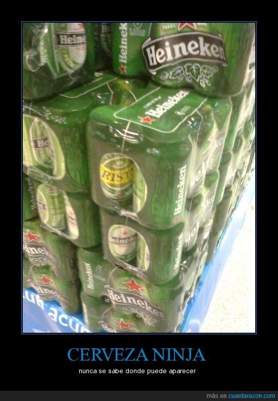 cerveza,heineken,ninja
