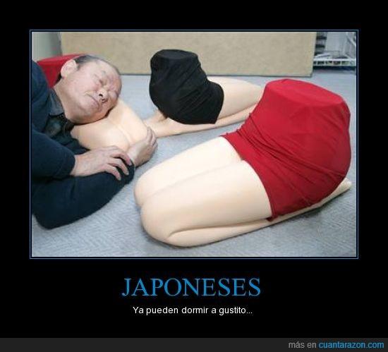dormir a gustito,Japoneses