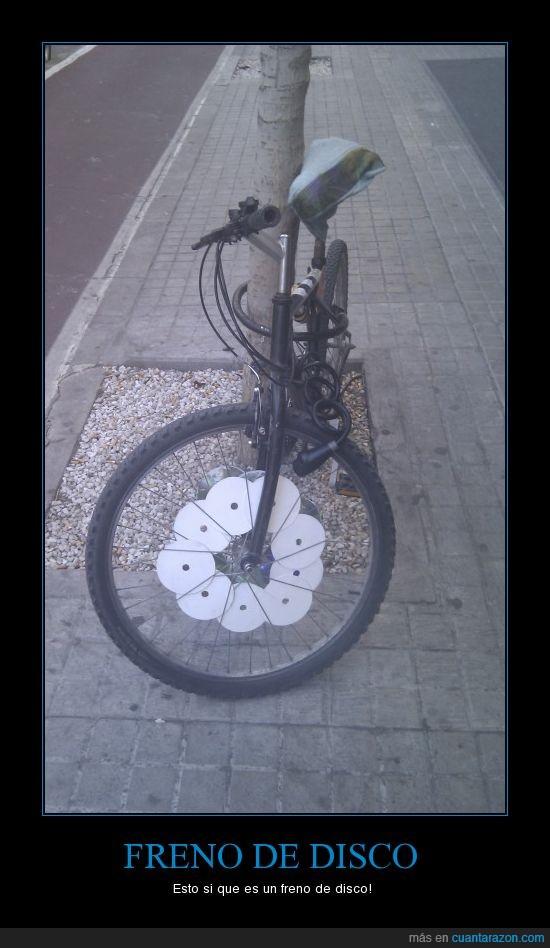 bicicleta,freno de disco