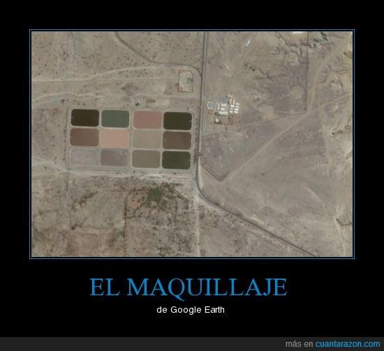google earth,maquillaje,sombra de ojo