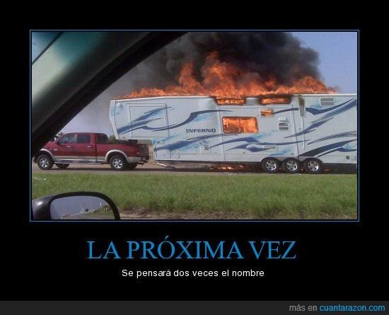 caravana,infierno,llamas