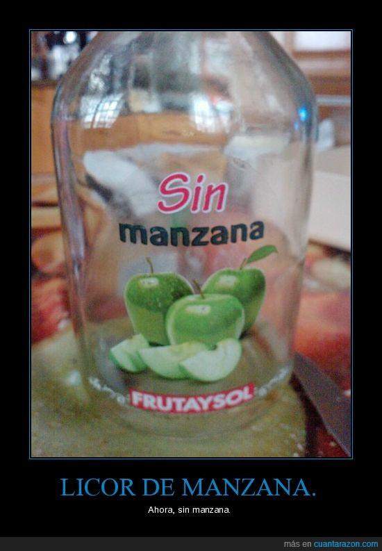 licor,manzana,sin