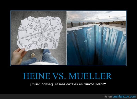 Ben Heine,carteles,Edgar Mueller,pique,vs