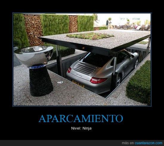 aparcar,coche,ninja