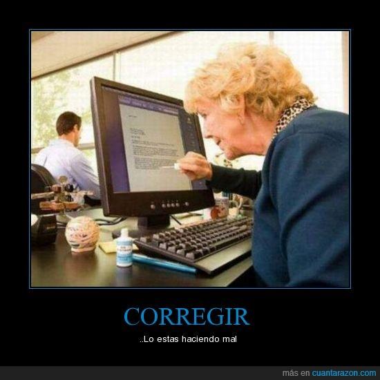 corregir,fail,trabajo
