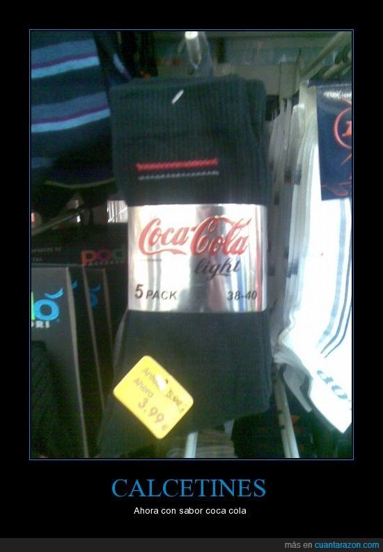 calcetines,Coca cola