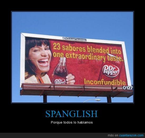 anuncio,bebida,spanglish