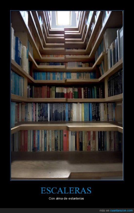 alma,escaleras,estantería