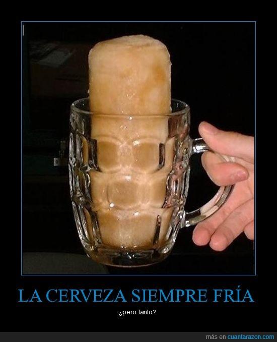 cerveza,hielo,vaso
