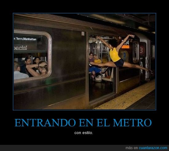 bailarina,balet,entrar,metro,saltar