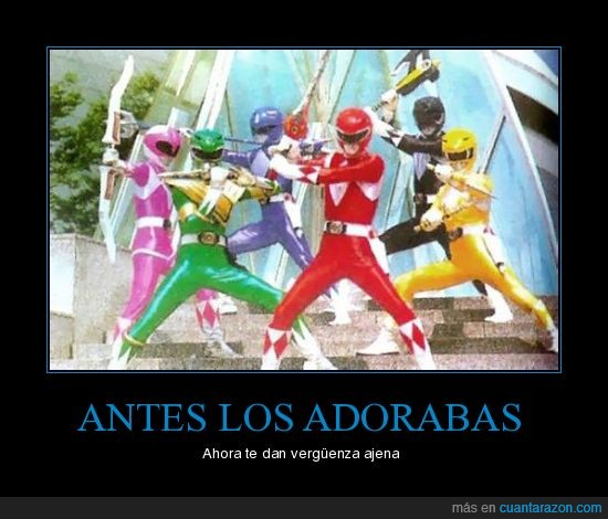 adoración,power rangers,verguenza
