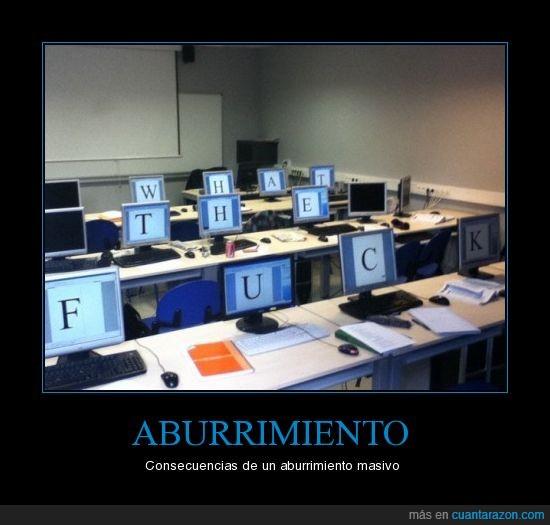 aburrimiento,clase,letras,ordenadores