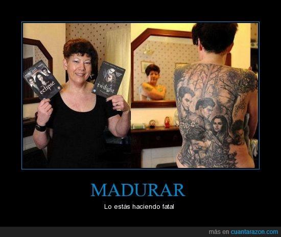 crepusculo,fatal,madurar,señora,tatuajes