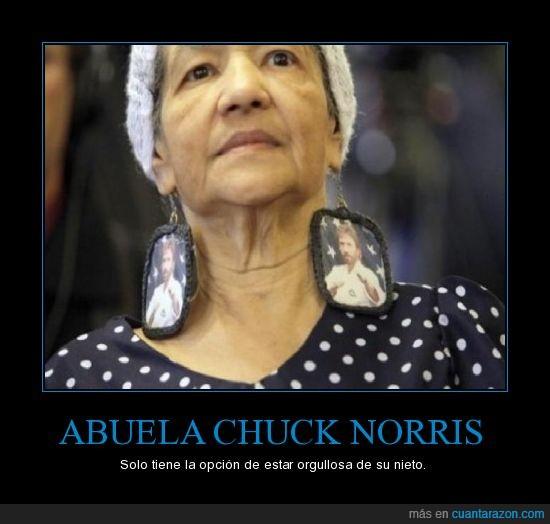 abuela,chuck norris,pendientes