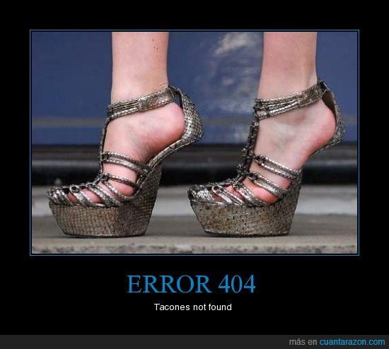 error 404 tacones