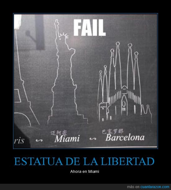 estatua,fail,miami