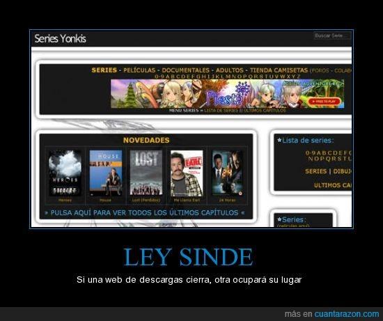 ley sinde,series yonkis,web