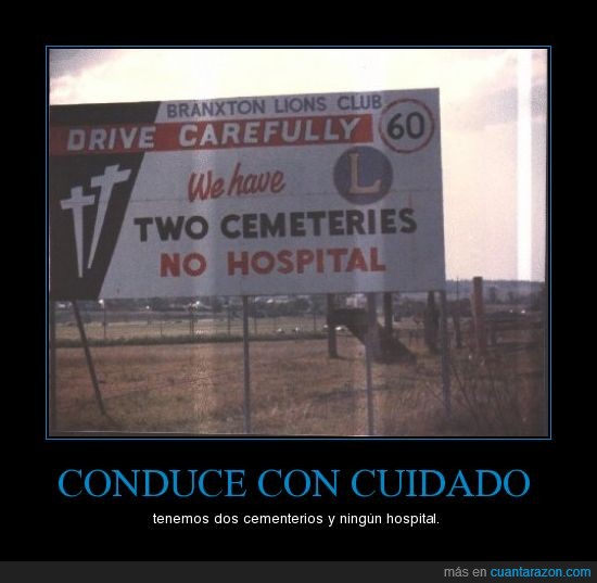 cartel,cementerio,hospital