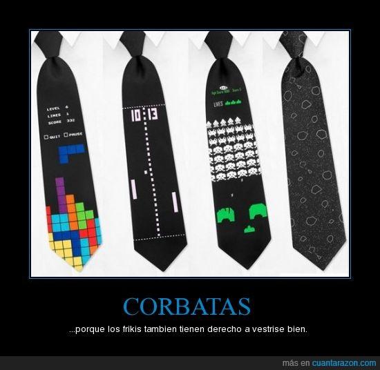 corbata,elegante,friki