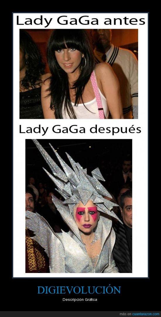 antes,despues,estrafalaria,Gaga,Lady,rara