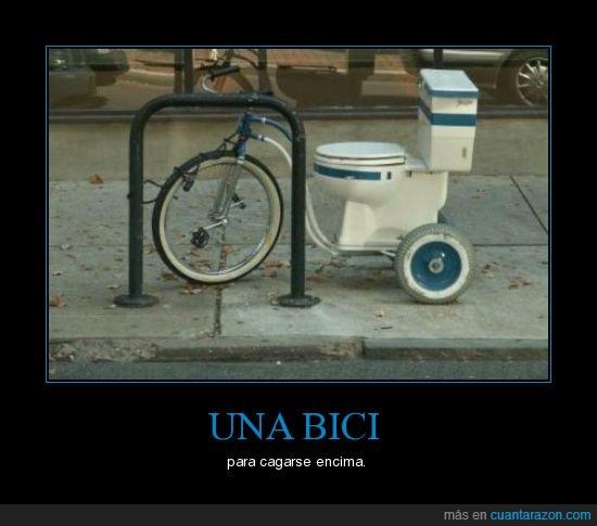 bici,cagar,encima,váter
