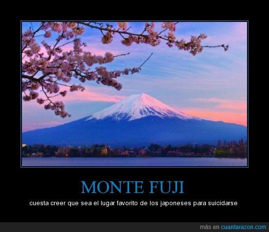 Japón,japoneses,monte fuji,suicidas