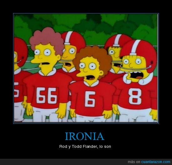 Flanders,Ironia,Los Simpson