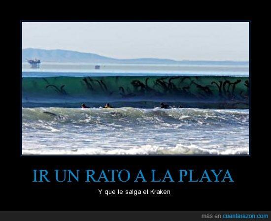 kraken,nadar,playa