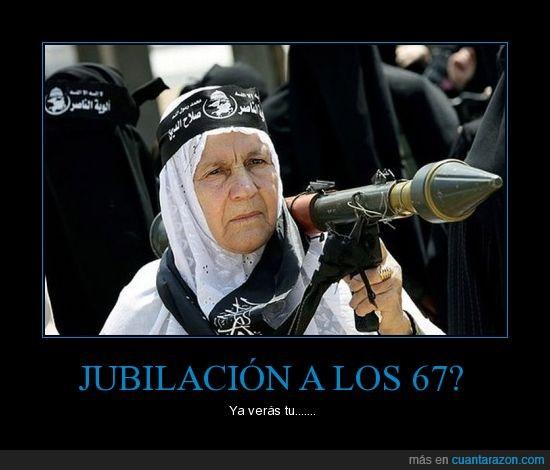 Abuela,Arma,Bazooka,Jubilación,Terrorista