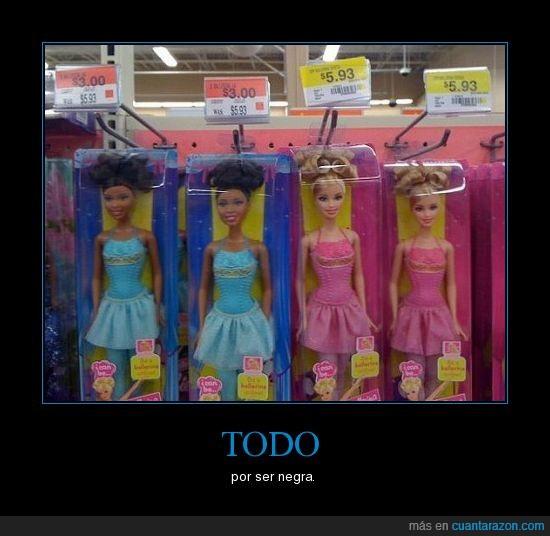 barata,barbie,negra,todo
