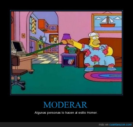 Homer Simpson,Moderar