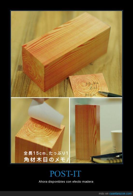 curioso,efecto,invento,madera,post-it