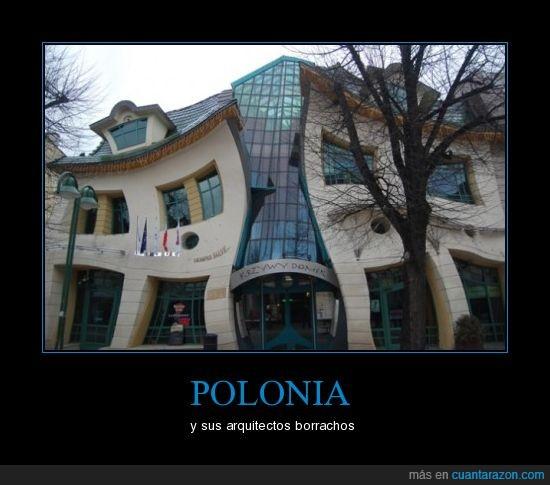 borrachos,edificio curioso,polonia