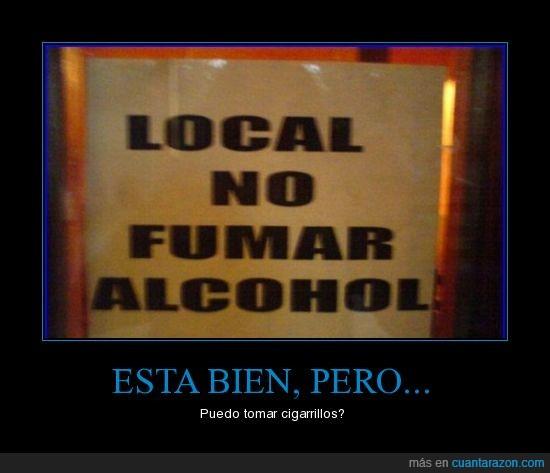 Alcohol,Cigarrillos,Fumar,Incoherencias