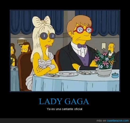 cantante,lady gaga,simspon