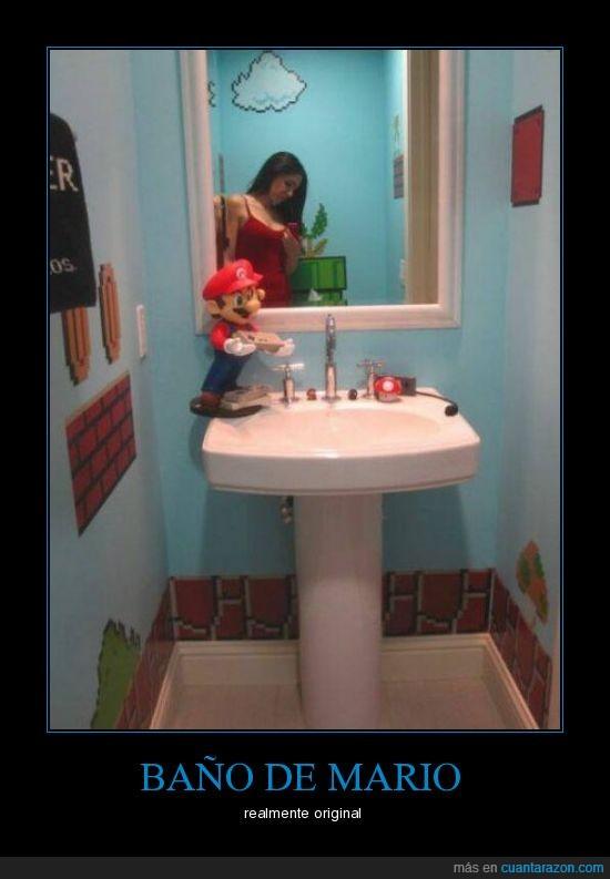 baño,mario