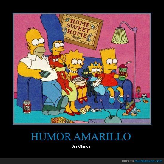 amarillo,bart,chinos,gracioso,homer,humor,jaja,justin,los simpson,sin