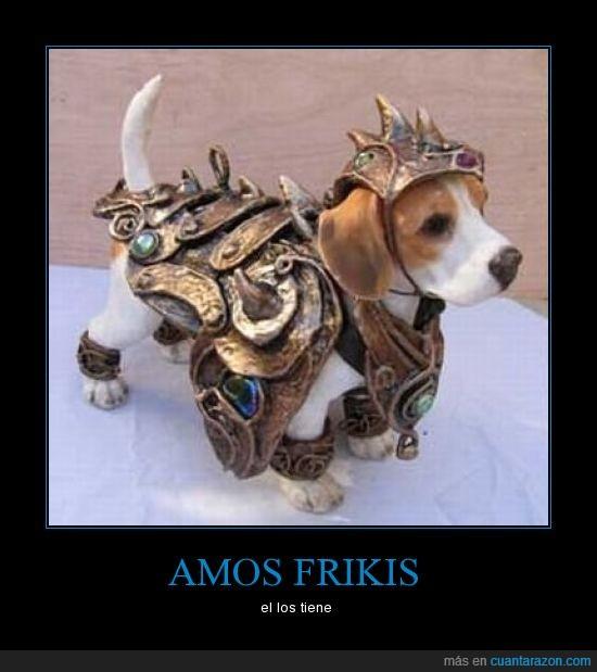 disfraz,dueños,medieval,perro