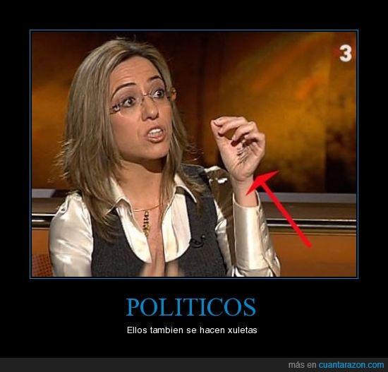 Carmen Chacon,chuletas,politica