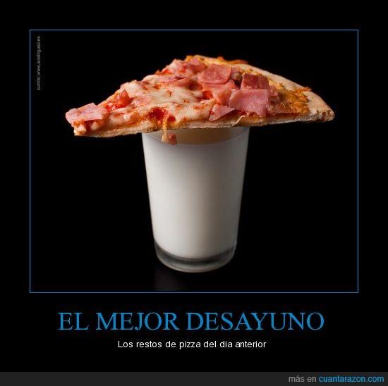 cena,desayuno,leche,pizza,restos