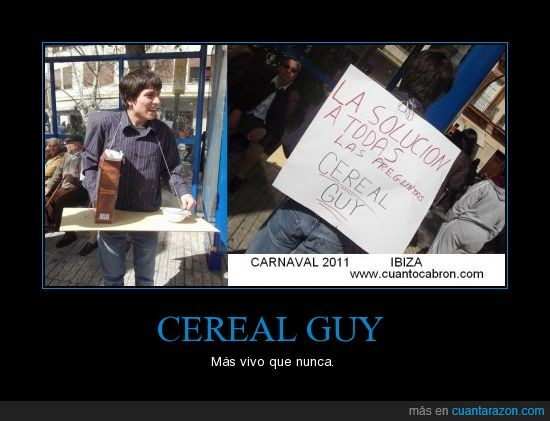 carnaval,cereal guy,ibiza