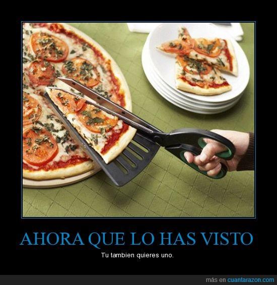 Comida,Pizza,Tijeras